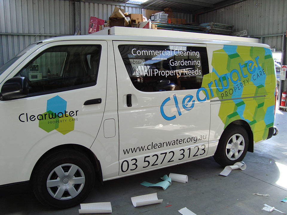 clearwater-van-signage-3 - National Signs & Flags   Sign Writer Geelong