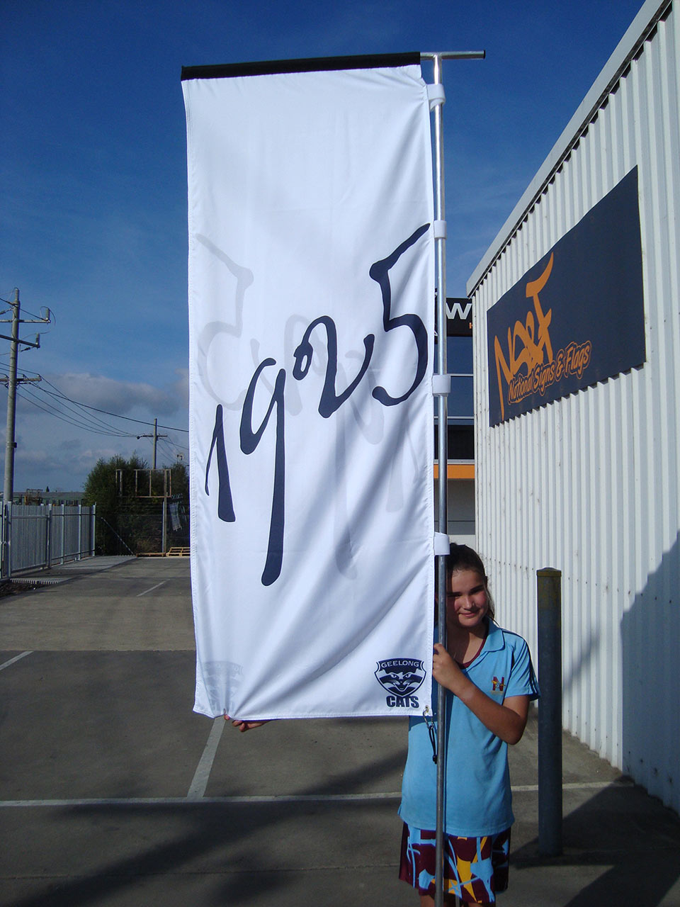Geelong Cats Flag Sign National Signs Flags