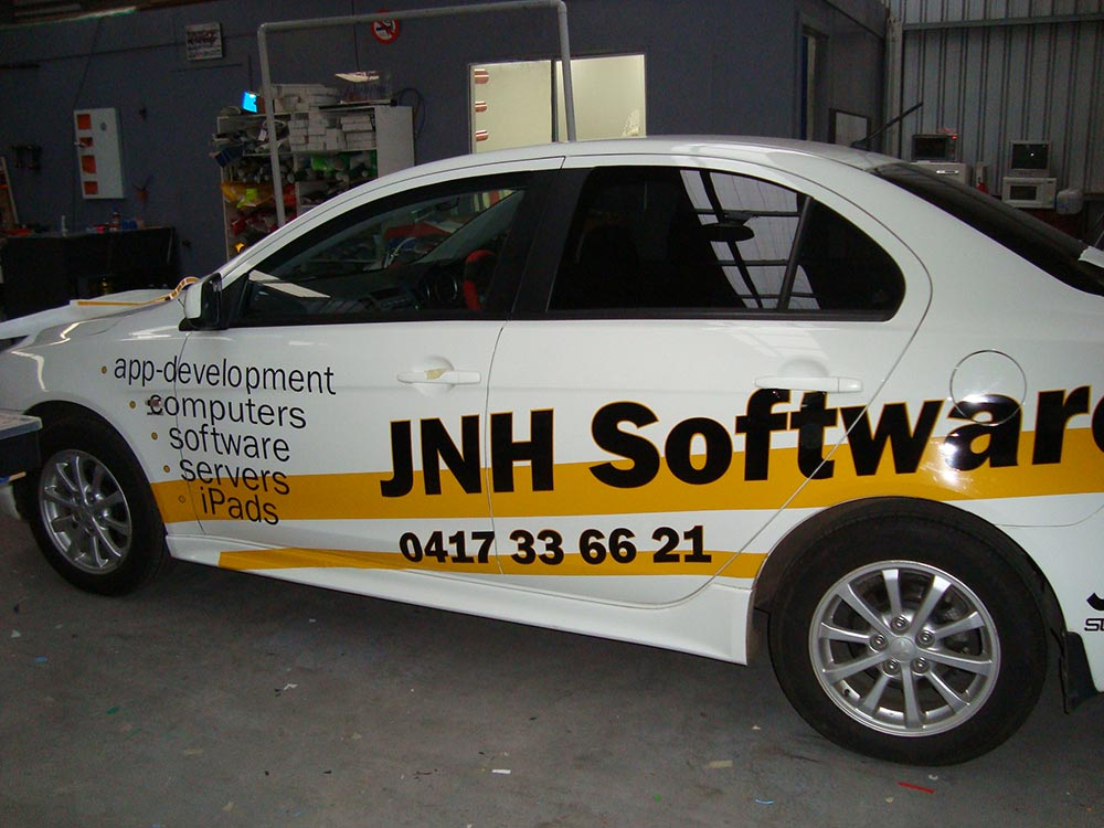 jnh software vehicle signage geelong